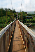 Swinging Bridge, Hanapepe,Kauai, Hawaii<br />