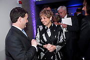 DEBORAH BORDA; JEREMY MAYHEW, LA Philharmonic reception, Fountain room, Barbican. 27 January 2011 -DO NOT ARCHIVE-© Copyright Photograph by Dafydd Jones. 248 Clapham Rd. London SW9 0PZ. Tel 0207 820 0771. www.dafjones.com.