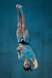 Oliver Dingley of Ireland in action during the Mens 3m Springboard Preliminary - Mandatory byline: Rogan Thomson/JMP - 12/05/2016 - DIVING - London Aquatics Centre - Stratford, London, England - LEN European Aquatics Championships 2016 Day 4.