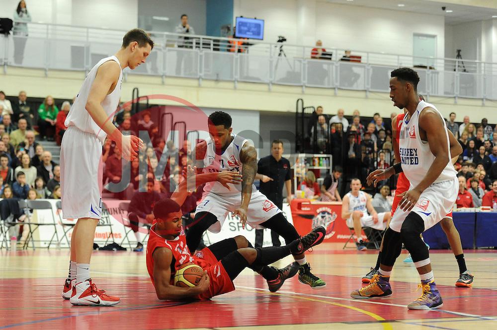 Bristol Flyers' Dwayne Lautier-Ogunleye - Photo mandatory by-line: Dougie Allward/JMP - Mobile: 07966 386802 - 13/02/2015 - SPORT - Basketball - Bristol - SGS Wise Campus - Bristol Flyers v Surrey United - British Basketball League