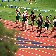 01 April 2017: The SDSU Aztecs women's Track and Field team seen here participating in the California Collegiate Invitational  held at UCSD