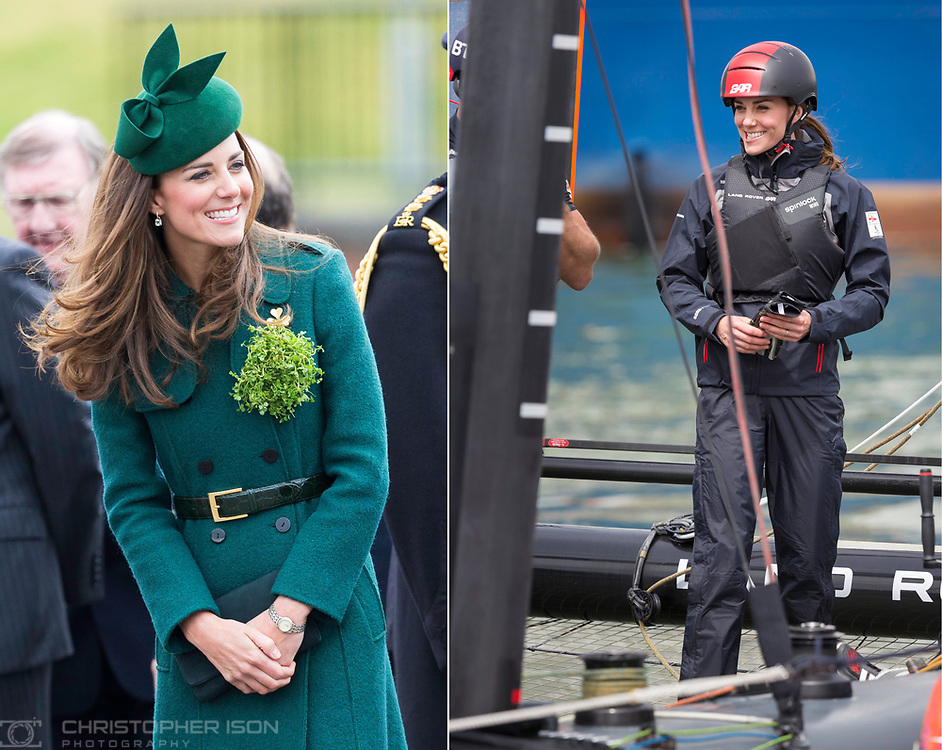 The Duchess of Cambridge at events in 2014 and 2016.<br /> Picture date Monday 17th March, 2014.<br /> Picture by Christopher Ison. Contact +447544 044177 chrisison@mac.com