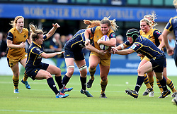 Sarah Bern of Bristol Ladies charges forward with the ball - Mandatory by-line: Robbie Stephenson/JMP - 24/09/2016 - RUGBY - Sixways - Worcester, England - Worcester Valkyries v Bristol Ladies Rugby - RFU Women's Premiership