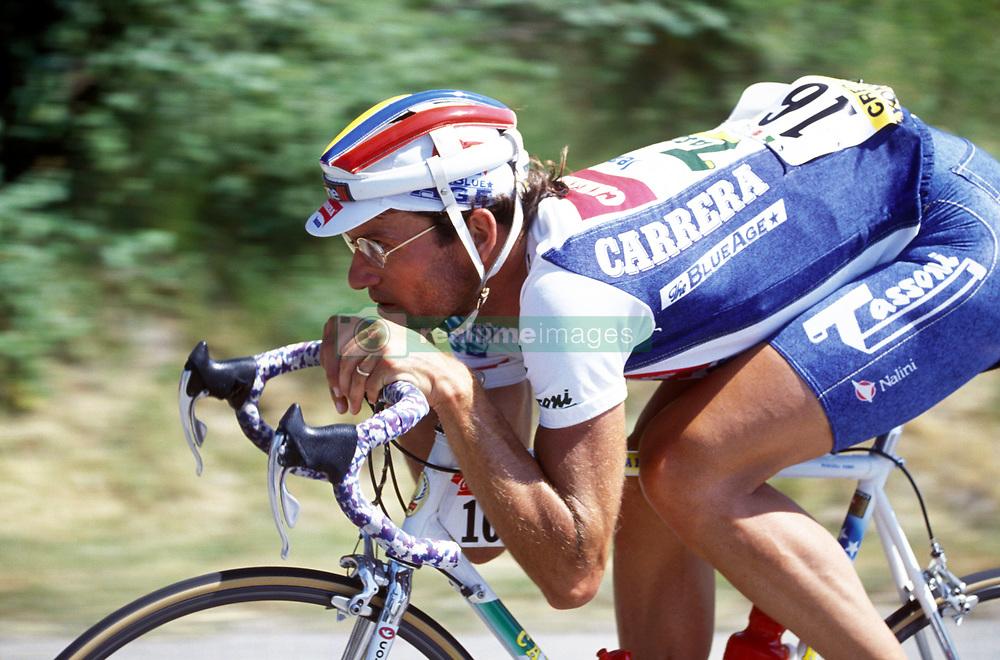 16 July 1993 - Cycling - Tour de France - Isola 2000 / Marseille<br /> Fabio Roscioli <br /> Photo: Presse Sports / Offside