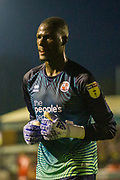Michael Luyambula (GK) (Crawley Town) during the EFL Cup match between Crawley Town and Norwich City at The People's Pension Stadium, Crawley, England on 27 August 2019.