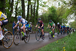 Lotta Lepisto of Cervelo Bigla rides near the front in the fourth short loop on Stage 2 of the Festival Elsy Jacobs - a 111.1 km road race, starting and finishing in Garnich on April 29, 2018, in Luxembourg. (Photo by Balint Hamvas/Velofocus.com)