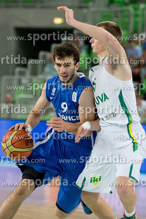 Leo Westermann of France during basketball match between National teams of Serbia and Spain in final match of U20 Men European Championship Slovenia 2012, on July 22, 2012 in SRC Stozice, Ljubljana, Slovenia. (Photo by Matic Klansek Velej / Sportida.com)