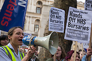 2 Dec 2015 - Health workers protest against NHS bursary cuts