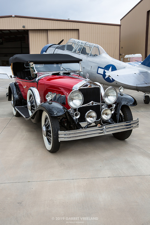 1930 Willys-Knight Phaeton and the AT-6 Texan.