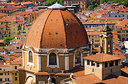 The Basilica di San Lorenzo red tiled dome, Florence, Tuscany, Italy