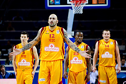 Vlado Ilievski of Macedonia, Pero Antic of Macedonia, Bo McCalebb of Macedonia and Gjorgij Chekovski of Macedonia during basketball game between National basketball teams of F.Y.R. of Macedonia and Russia of 3rd place game of FIBA Europe Eurobasket Lithuania 2011, on September 18, 2011, in Arena Zalgirio, Kaunas, Lithuania. (Photo by Vid Ponikvar / Sportida)
