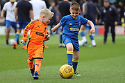 *** during the EFL Sky Bet League 1 match between AFC Wimbledon and Scunthorpe United at the Cherry Red Records Stadium, Kingston, England on 7 April 2018. Picture by Matthew Redman.