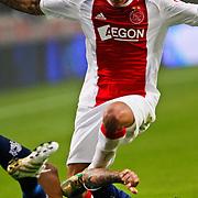 NLD/Amsterdam/20100731 - Wedstrijd om de JC schaal 2010 tussen Ajax - FC Twente, Toby Alderweireld in duel met Theo Janssen