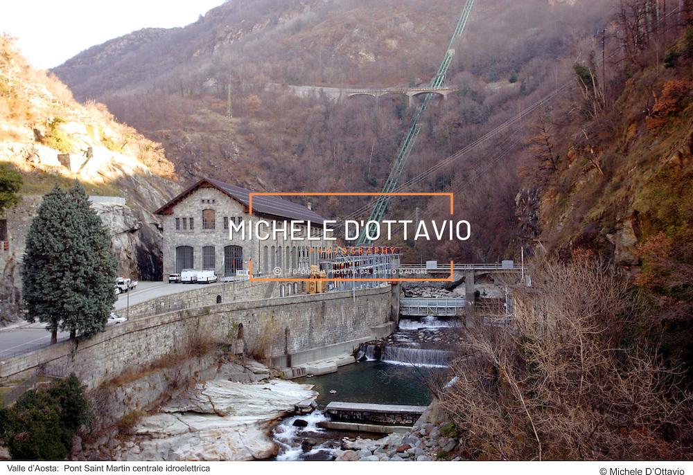 Valle d?Aosta:  Pont Saint Martin centrale idroelettrica. fotografia di  Michele D?Ottavio