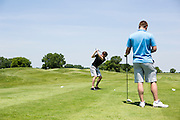 People participate in Magnet's Annual Golf Outing at Bridges Golf Course in Madison, Wisconsin on June 14, 2013.