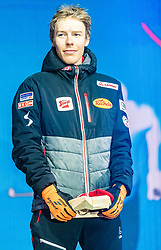 28.02.2019, Seefeld, AUT, FIS Weltmeisterschaften Ski Nordisch, Seefeld 2019, Nordische Kombination, Siegerehrung, im Bild Franz-Josef Rehrl (AUT) // Franz-Josef Rehrl of Austria during the winner Ceremony for the Ski Jumping competition for Nordic Combined of FIS Nordic Ski World Championships 2019. Seefeld, Austria on 2019/02/28. EXPA Pictures © 2019, PhotoCredit: EXPA/ Stefan Adelsberger