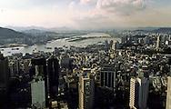 the city, pearl river and Zouhai (China) in the background. Macau  ///  La ville, la rivière des perles, et Zouhai (Chine) en arrière plan. Macao /// R211/1    L3152  /  R00211  /  P0006574