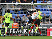Bolton Wanderers striker Gary Madine scores to make it 2-2 during the Sky Bet Championship match between Bolton Wanderers and Brighton and Hove Albion at the Macron Stadium, Bolton, England on 26 September 2015.