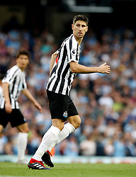 """Newcastle United's Federico Fernandez during the Premier League match at the Etihad Stadium, Manchester. PRESS ASSOCIATION Photo. Picture date: Saturday September 1, 2018. See PA story SOCCER Man City. Photo credit should read: Martin Rickett/PA Wire. RESTRICTIONS: EDITORIAL USE ONLY No use with unauthorised audio, video, data, fixture lists, club/league logos or """"live"""" services. Online in-match use limited to 120 images, no video emulation. No use in betting, games or single club/league/player publications."""