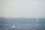 industry on Tokyo bay seen from Yokosuka Kanagawa area