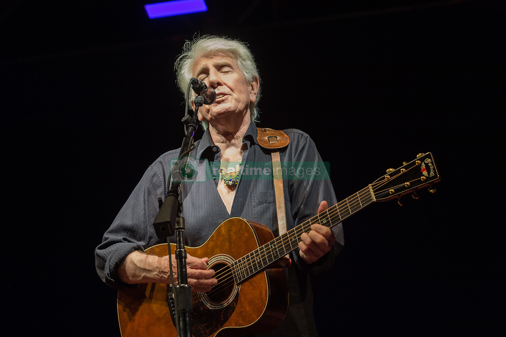 July 2, 2018 - Rome, Italy, Italy - The legendary rock musician has performed, the only Italian date, at the Casa del Jazz in Rome on 2/7/2018 in the musical review 'I Concerti nel Parco'. Nash first with the Hollies then with Crosby, Stills and Young has collected many hits with songs passed to history. With him on stage Shane Fontaine on guitar and Todd Caldwell on keyboards. Graham Nash  (Credit Image: © Leo Claudio De Petris/Pacific Press via ZUMA Wire)