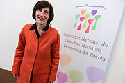 Santiago Mazzarovich/ URUGUAY/ MONTEVIDEO/ Josefina Pla asumi&oacute; como nueva presidenta de la Instituci&oacute;n Nacional de Derechos Humanos (INDDHH), en reemplazo de la ex-presidenta, Mariana Mota.<br /> <br /> En la foto: Josefina Pla en la INDDHH. Foto: Santiago Mazzarovich / adhocFOTOS.