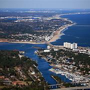 Aerial view of Lynnhaven River Virginia Beach, VA