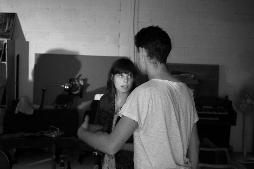 Emily Kai Bock and Evan Prosofsky discuss what to do next on set for Oblivion video shoot with Grimes.
