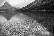 Black and White Photograph of Two Medicine Lake, Glacier National Park, Montana (2009)