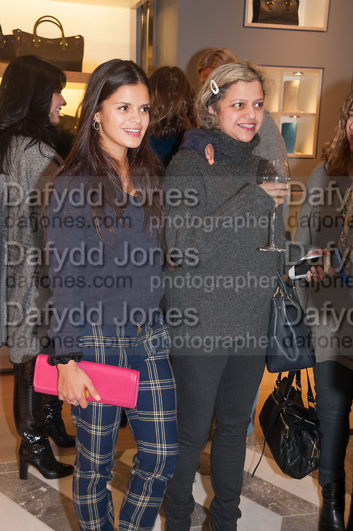 BIP LING; TANYA LING, Smythson Sloane St. Store opening. London. 6 February 2012.