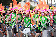 Elementary school drummers are a feature of  the Dream Parade, Taipei.
