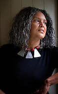 """(Oak Bluff, MA - July 20, 2006) - Charlayne Hunter-Gualt, former journalist for PBS and CNN bureau chief for South Africa, at her home on Martha's Vineyard, Massachusetts.   Hunter-Gault continues as an independent journalists based in South Africa, and has a new book titled """"New News Out of Africa: Uncovering Africa's Renaissance."""".Photo Justin Ide/MoonDance Images"""