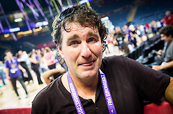 Ziga Bojc, journalist of STA in tears of happiness after the Trophy ceremony after winning during the Final basketball match between National Teams  Slovenia and Serbia at Day 18 of the FIBA EuroBasket 2017 when Slovenia became European Champions 2017, at Sinan Erdem Dome in Istanbul, Turkey on September 17, 2017. Photo by Vid Ponikvar / Sportida