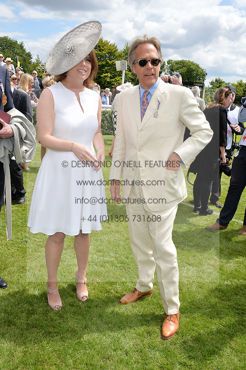 The EARL OF MARCH and HRH PRINCESS EUGENIE OF YORK at the Qatar Goodwood Festival - Ladies Day held at Goodwood Racecourse, West Sussex on 30th July 2015.