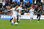 Goal -  Oli McBurnie (9) of Swansea City scores a goal from the penalty spot to give a 1-0 lead to the home team during the EFL Sky Bet Championship match between Swansea City and Reading at the Liberty Stadium, Swansea, Wales on 27 October 2018.