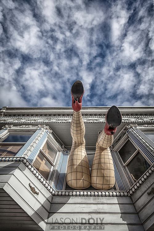 World famous Haight Ashbury district in San Francisco