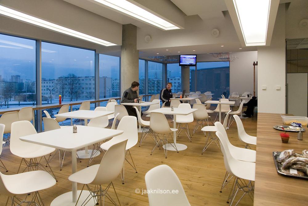 Dining Hall in Modern Skype Office, Tallinn, Estonia