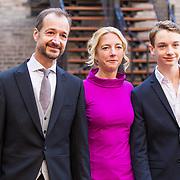 NLD/Den Haag/20180918 - Prinsjesdag 2018, Eric Wiebes met partner en zoon