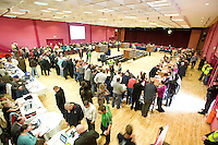 The Count centre at Leisureland, Salthill, Galway for the Galway West count. Photo:Andrew Downes
