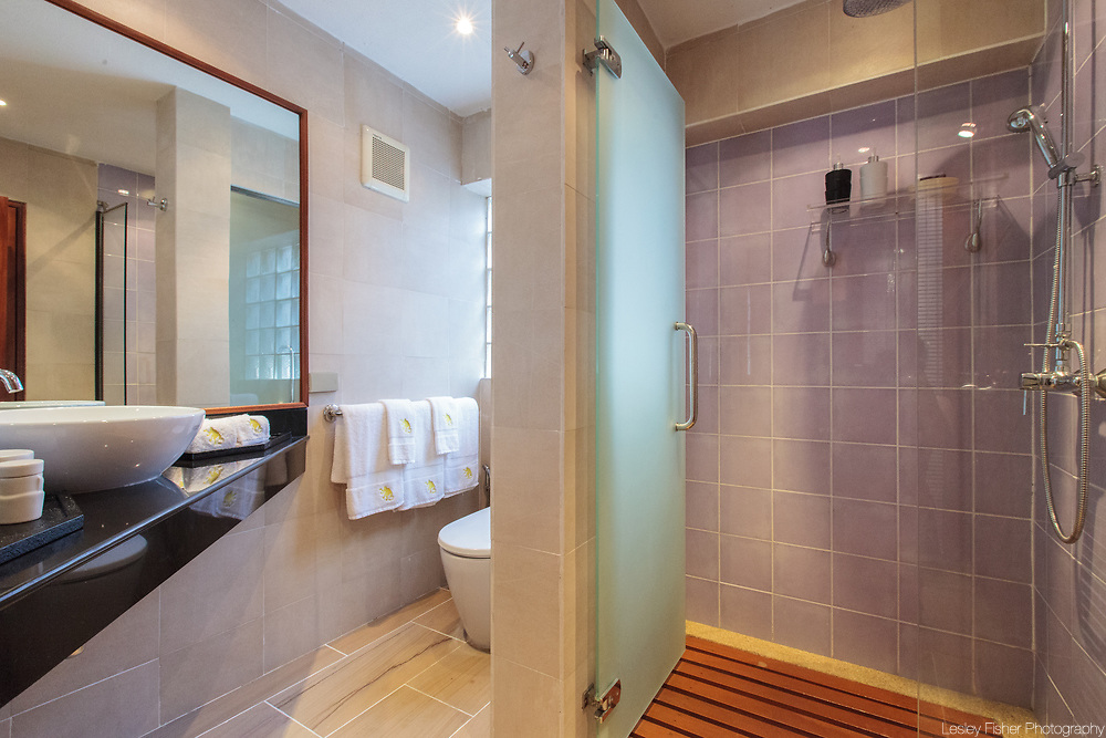 Toilet at Baan Wanora, a luxury, private, beach front villa located in Laem Sor, Koh Samui, Thailand