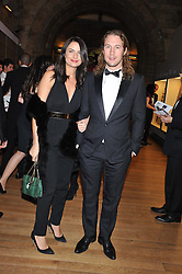 GABRIELE HACKWORTHY and CHRISTIAN LARSON at the annual Chain of Hope's annual Gala Ball held at the Natural History Museum, London on 8th November 2012.