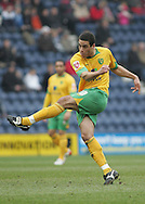 Preston - Saturday February 14th, 2009: Darel Russell of Norwich City gets a shot away against Preston North End during the Coca Cola Championship match at Deepdale, Preston. (Pic by Michael Sedgwick/Focus Images)