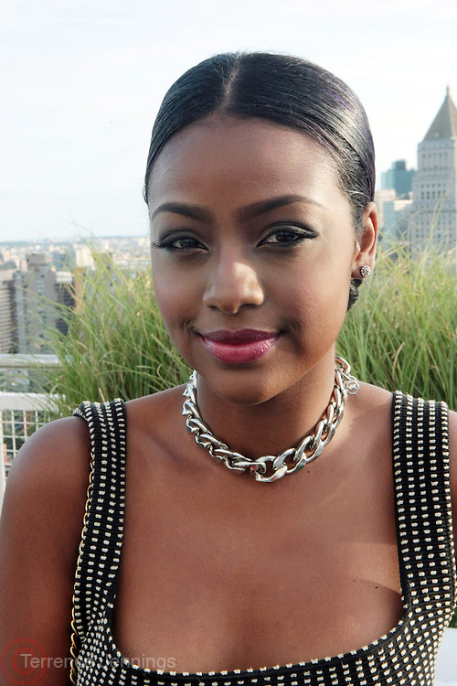 "9 September 2013- New York, NY: Recording Artist Justine Skye attends the "" Hair Icon '  Cocktail & Dinner party presented by Beautiful Textures in partnership with BET Networks and Cadillac held at the Mondrian Soho Penthouse on September 9, 2013 in New York City. ©Terrence Jennings"