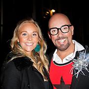 NLD/Amsterdam/20120217 - Premiere Saturday Night Fever, Maik de Boer en ……………