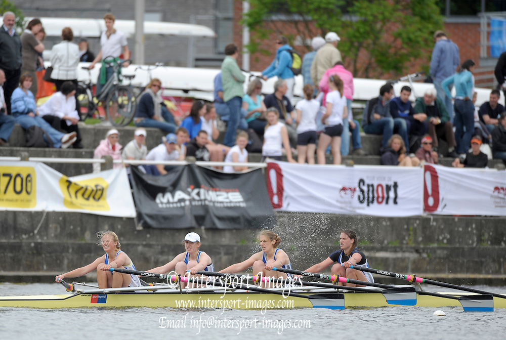 Gent, BELGIUM,   IC W4X, Imperial College, competing in the Women's Quads, at the International Belgian Rowing Championships, Saturday 09/05/2009, [Mandatory Credit. Peter Spurrier/Intersport Images]