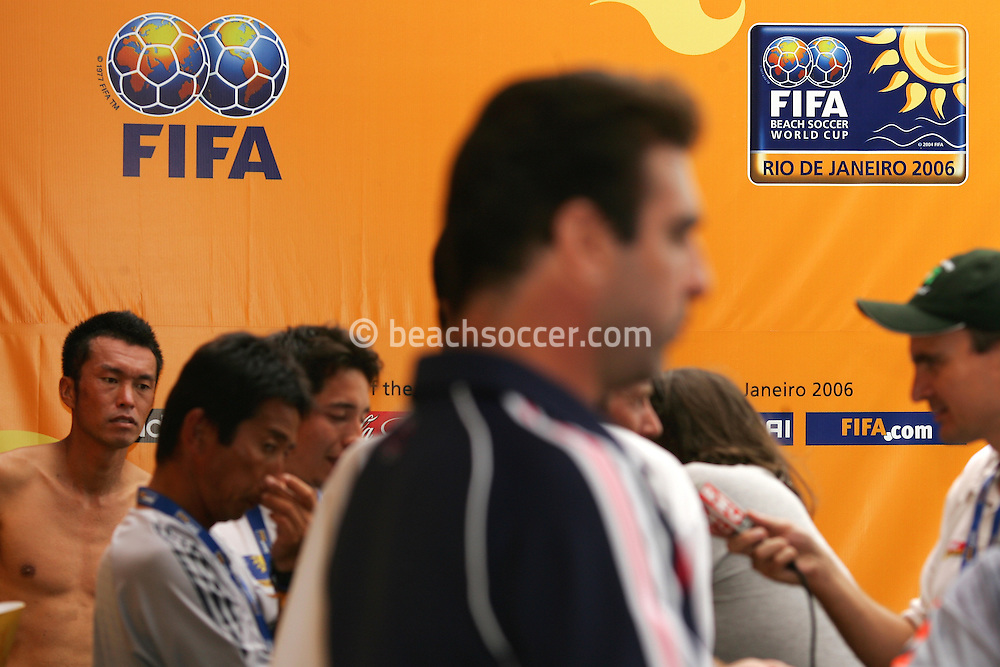 Football-FIFA Beach Soccer World Cup 2006 -  France - Japan, Beachsoccer World Cup 2006. Rio de Janeiro - Brazil 09/11/2006. Mandatory credit: FIFA/ Manuel Queimadelos