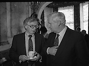 Mayo Football Team At Dept of Foreign Affairs  (T6)..1989..18.09.1989..09.18.1989..18th September 1989..Prior to their return to Mayo, the beaten All ireland Finalists paid a courtesy call on the Dept of Foreign Affairs in Iveagh House, Dublin. Mayo had been beaten by Cork in a thrilling All Ireland Final yesterday afternoon in Croke Park.