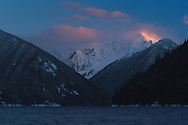 Alpenglow on Nodoubt Peak at Chilliwack Lake Provincial Park.