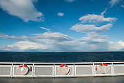 View from the Vancouver Island ferry, BC, Canada.