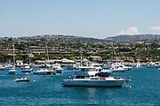 Boats Docked In Newport Beach Harbor